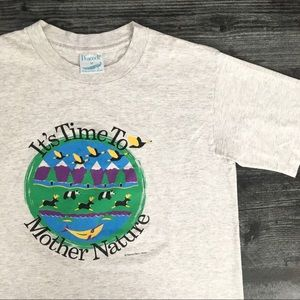 1990s It's Time To Mother Earth T-shirt